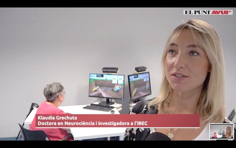 The Rehabilitation Gaming System for Aphasia on Catalan TV, el Punt Avui.